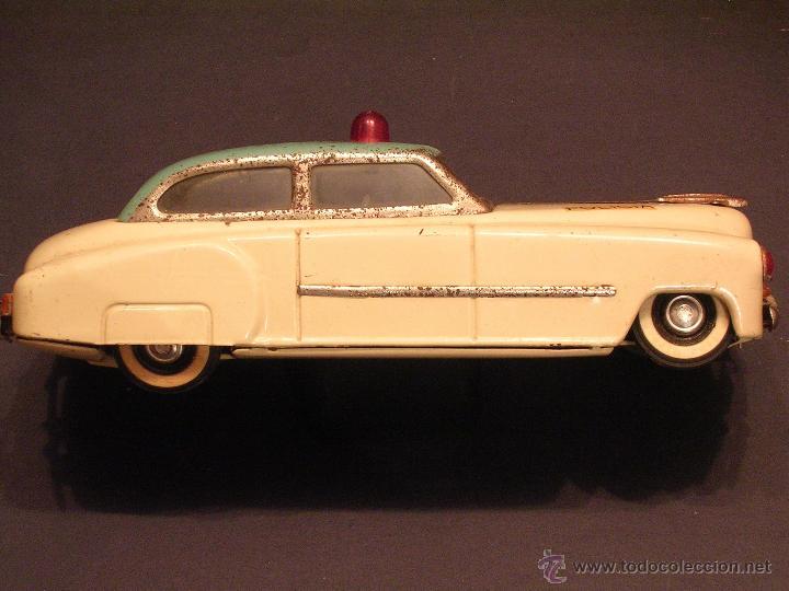 Juguetes antiguos Rico: Coche de Policía Auto Sedán Eléctrico Rico años 50, 60 - Foto 5 - 47269960