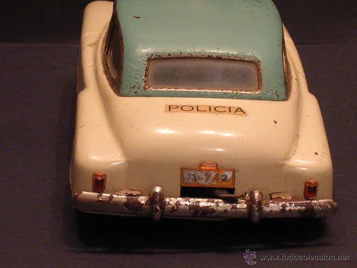 Juguetes antiguos Rico: Coche de Policía Auto Sedán Eléctrico Rico años 50, 60 - Foto 6 - 47269960
