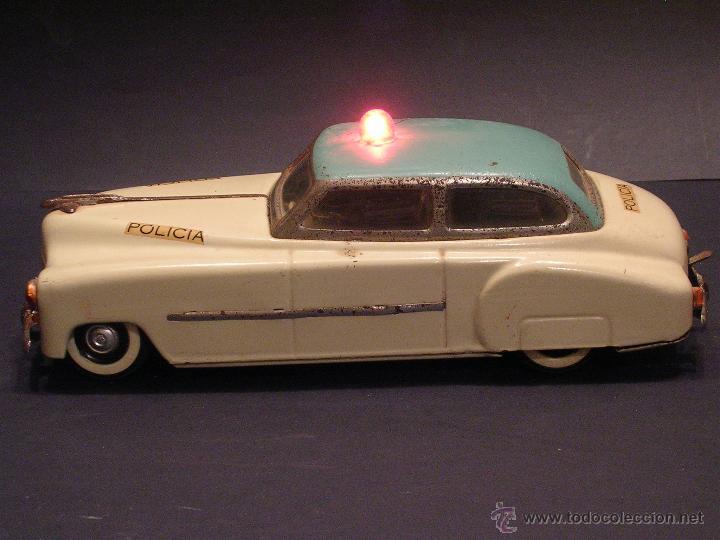 Juguetes antiguos Rico: Coche de Policía Auto Sedán Eléctrico Rico años 50, 60 - Foto 7 - 47269960