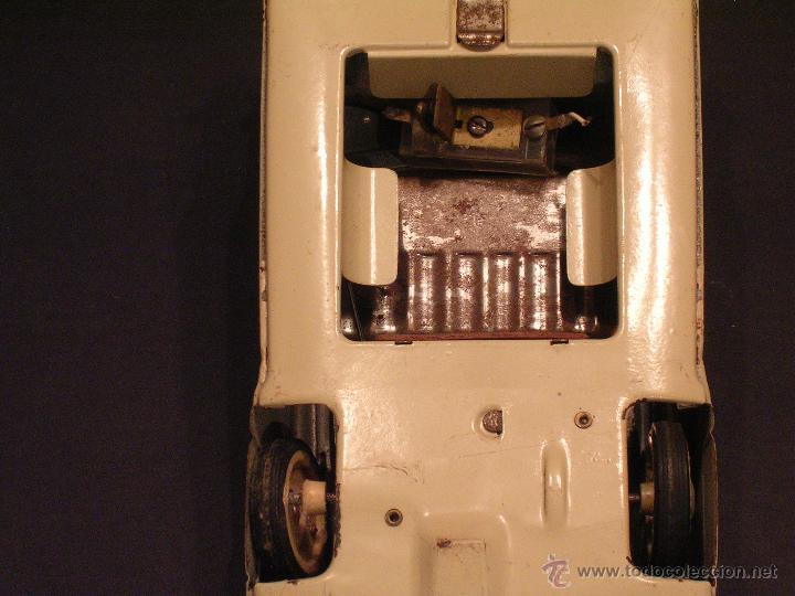 Juguetes antiguos Rico: Coche de Policía Auto Sedán Eléctrico Rico años 50, 60 - Foto 9 - 47269960