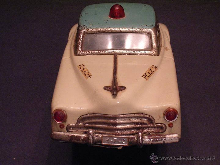 Juguetes antiguos Rico: Coche de Policía Auto Sedán Eléctrico Rico años 50, 60 - Foto 11 - 47269960