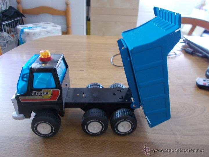 Juguetes antiguos Rico: camion volquete de rico SANSON BRAVO. 11 cm de alto por 21 cm. de largo. 9 cm de ancho - Foto 3 - 52762935