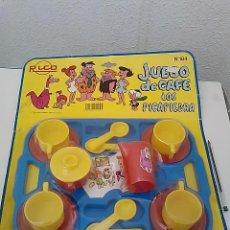 Juguetes antiguos Rico: -RICO- JUEGO DE CAFE DE LOS PICAPIEDRAS- REF 184. Lote 50686866