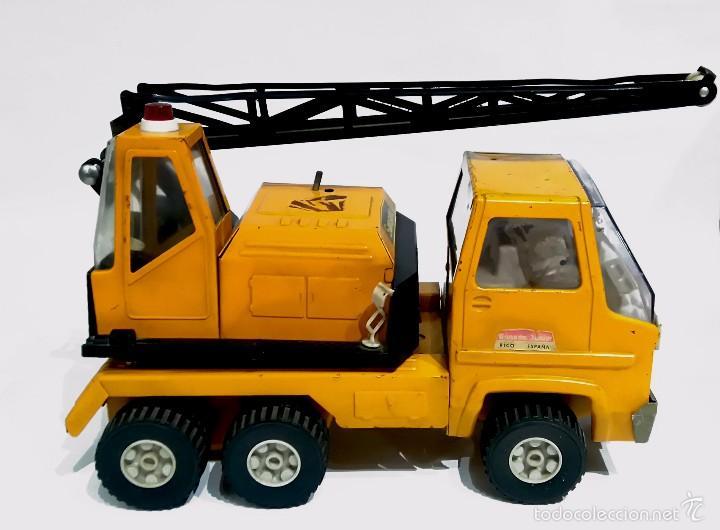 Juguetes antiguos Rico: Camión grúa metálico Sanson junior de RICO - Foto 2 - 103036340