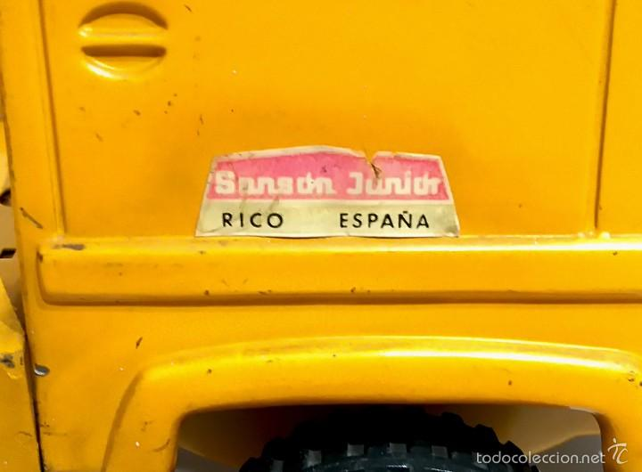 Juguetes antiguos Rico: Camión grúa metálico Sanson junior de RICO - Foto 3 - 103036340