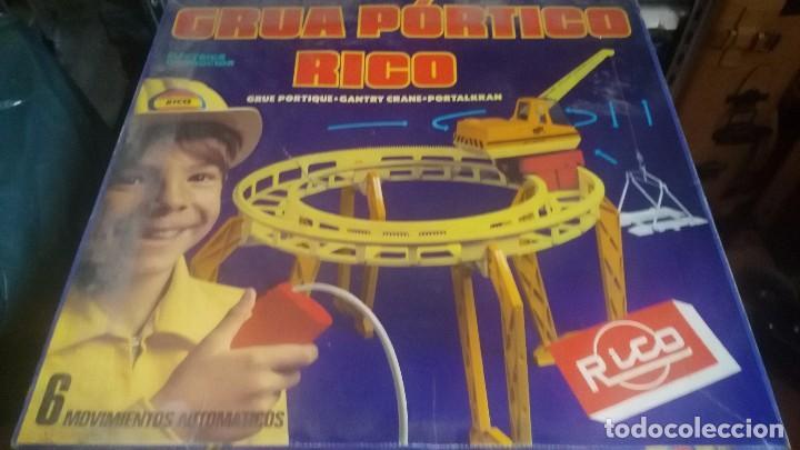Juguetes antiguos Rico: antigua grua de rico grua portico rico funcionando en caja - Foto 2 - 73634503