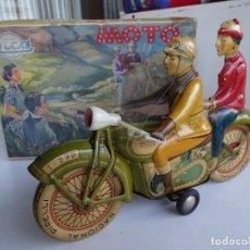 Juguetes antiguos Rico: MOTO. MOTORISTAS DE RICO. JUGUETE EN CAJA ORIGINAL. REF. 279. IMPECABLE. DE JUGUETERÍA. Lote 87480764