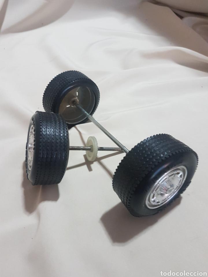 Juguetes antiguos Rico: 3 rueda ruedas traseras con llantas camión pegaso transinter rico 1 sin logotipo de pegaso - Foto 2 - 156918104