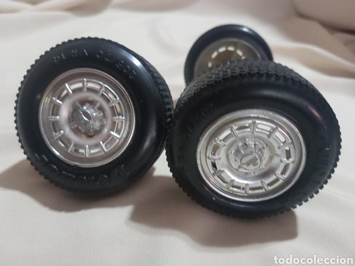 Juguetes antiguos Rico: 3 rueda ruedas traseras con llantas camión pegaso transinter rico 1 sin logotipo de pegaso - Foto 4 - 156918104