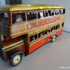 Juguetes antiguos Rico - Autobús RICO de 2 pisos en hojalata litografiada. 25 ctms. MBE - 90167536