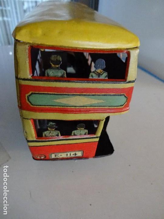 Juguetes antiguos Rico: Autobús RICO de 2 pisos en hojalata litografiada. 25 ctms. MBE - Foto 5 - 90167536
