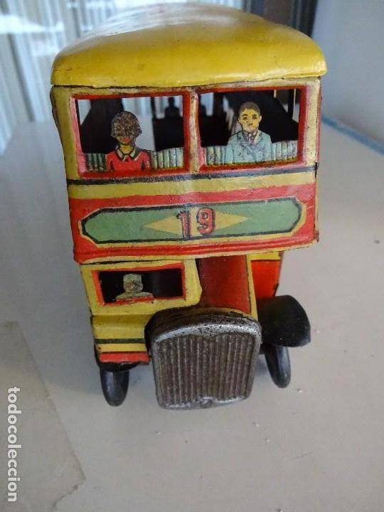 Juguetes antiguos Rico: Autobús RICO de 2 pisos en hojalata litografiada. 25 ctms. MBE - Foto 6 - 90167536