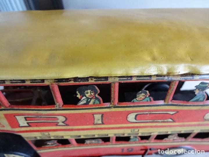 Juguetes antiguos Rico: Autobús RICO de 2 pisos en hojalata litografiada. 25 ctms. MBE - Foto 8 - 90167536