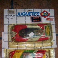 Juguetes antiguos Rico: LOTE COCHES JUGUETES 33 MITAD CHAPA MITAD PLASTICO. Lote 94453070