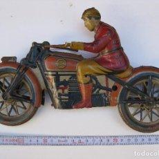 Juguetes antiguos Rico: MOTO CARRERAS DE PAYA - AÑOS 30. Lote 95276391