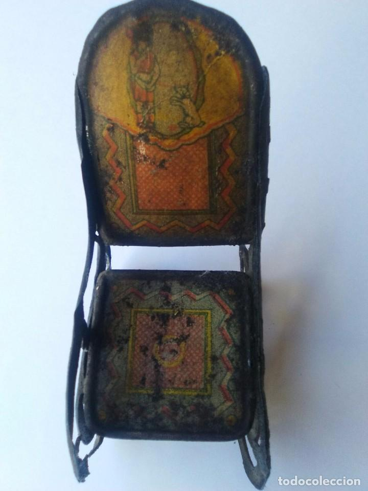 Juguetes antiguos Rico: Pareja antigua mecedora Rico hojalata litografiada - Foto 4 - 99929787