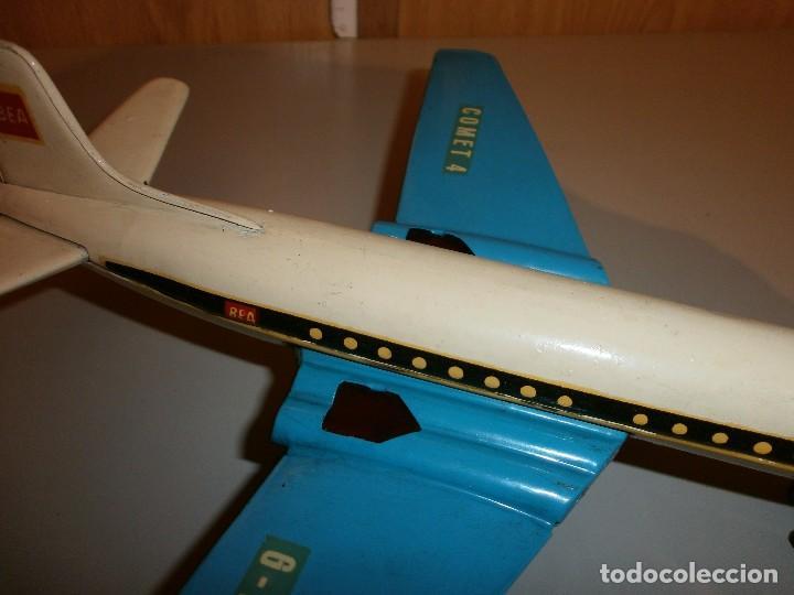 Juguetes antiguos Rico: avion comet 4 bea marca rico de chapa buen estado mide 25x24,5x6 - Foto 3 - 103698335