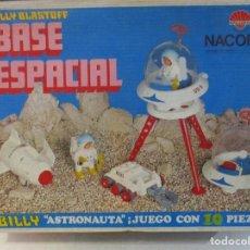 Juguetes antiguos Rico: BASE ESPACIAL DE NACORAL CON SU CAJA ORIGINAL Y BILLY BLASTOFF COMPLETO . Lote 106005995