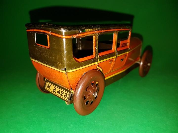 Juguetes antiguos Rico: Taxi de RICO, en hojalata litografías, funcionando a cuerda, años 30/40 - Foto 4 - 109996975