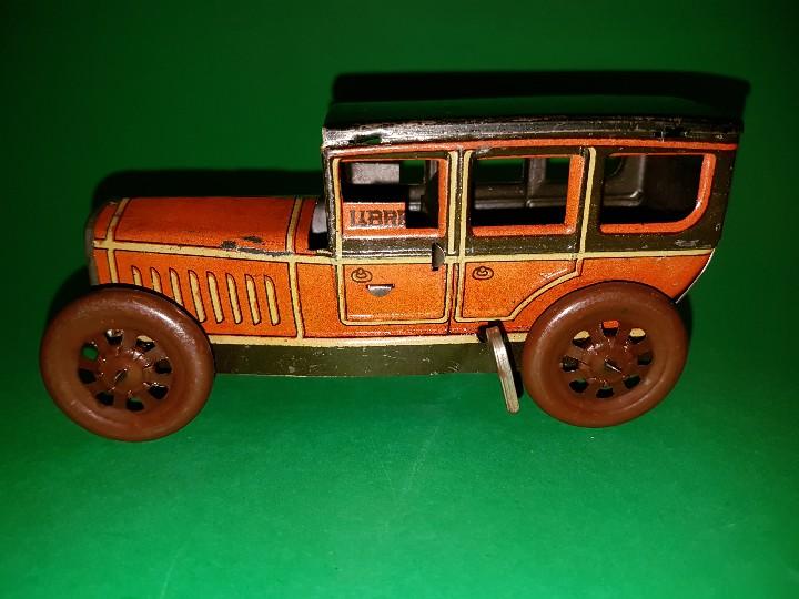 Juguetes antiguos Rico: Taxi de RICO, en hojalata litografías, funcionando a cuerda, años 30/40 - Foto 5 - 109996975