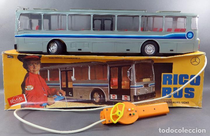 AUTOBUS BUS MERCEDES BENZ RICO ELÉCTRICO CONDUCIDO REF 43 AÑOS 80 CON CAJA FUNCIONA PARTE (Juguetes - Marcas Clásicas - Rico)