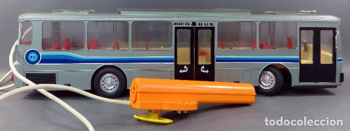 Juguetes antiguos Rico: Autobus Bus Mercedes Benz Rico eléctrico conducido Ref 43 años 80 con caja Funciona parte - Foto 7 - 136034393