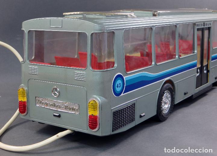 Juguetes antiguos Rico: Autobus Bus Mercedes Benz Rico eléctrico conducido Ref 43 años 80 con caja Funciona parte - Foto 8 - 136034393