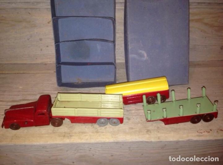 Juguetes antiguos Rico: Caja camion rico con remolques 1940 - Foto 2 - 54833525