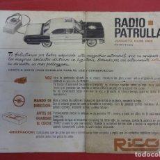 Juguetes antiguos Rico: FOLLETO INSTRUCCIONES GALAXIE RADIO PATRULLA DE RICO. ORIGINAL AÑOS 60. Lote 120935735