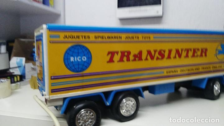 Juguetes antiguos Rico: ANTIGUO TRANSINTER DE RICO PEGASO CABINA BLANCA - Foto 12 - 136343837