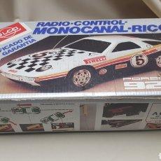 Juguetes antiguos Rico: COCHE RADIO CONTROL MONOCANAL - RICO PORSCHE 928 CON SU CAJA. Lote 122615119