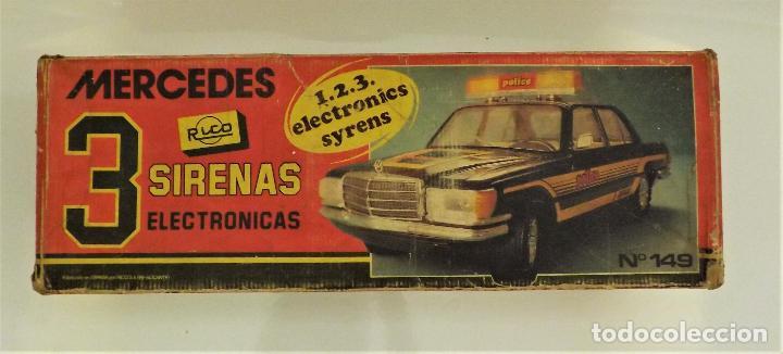 Juguetes antiguos Rico: Mercedes Benz de Rico Tres sirenas - Foto 9 - 123129751