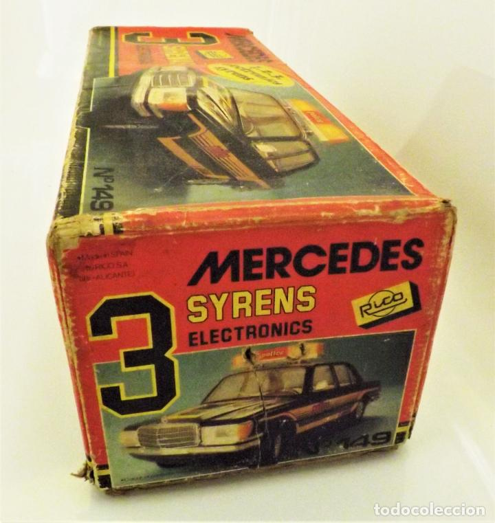Juguetes antiguos Rico: Mercedes Benz de Rico Tres sirenas - Foto 11 - 123129751