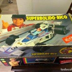 Juguetes antiguos Rico: COCHE SUPERBOLIDO DE JUGUETES RICO EN PERFECTO ESTADO SIN SEÑALES DE USO. Lote 126014199