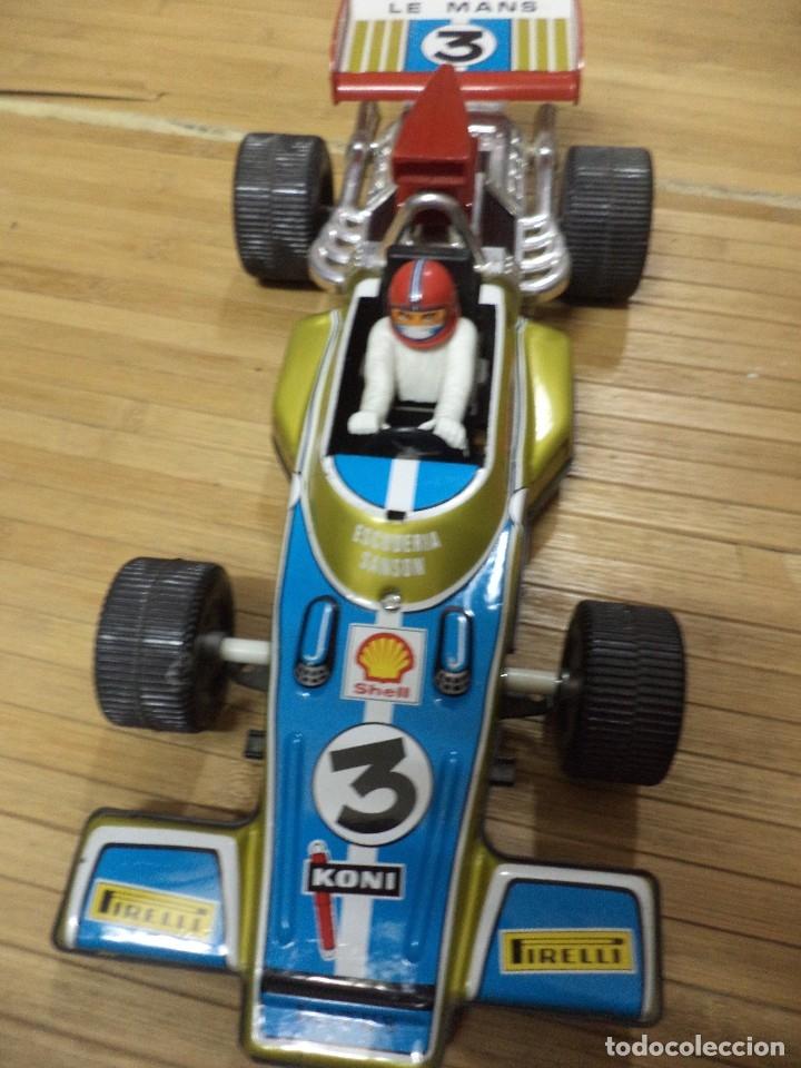 Juguetes antiguos Rico: Bólido de Fórmula 1 Lotus de Rico.Hojalata años 70. - Foto 2 - 126907587