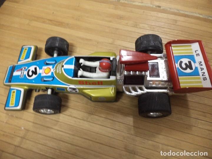 Juguetes antiguos Rico: Bólido de Fórmula 1 Lotus de Rico.Hojalata años 70. - Foto 5 - 126907587