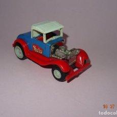 Brinquedos antigos Rico: ANTIGUO COCHE EN CHAPA PINTADA Y PLÁSTICO SERIE AUTOS LOCOS - DOCTOR DE JUGUETES RICO. Lote 128385015