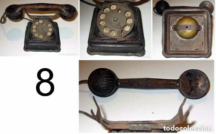 TELEFONO HOJALATA COLOR NEGRO RICO Y CIA AÑOS 40 (Juguetes - Marcas Clásicas - Rico)