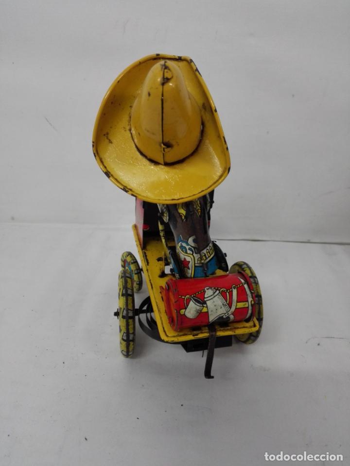 Juguetes antiguos Rico: Rodeo de Rico. Juguete con resorte, de hojalata, años 50/60 - Foto 2 - 135823974