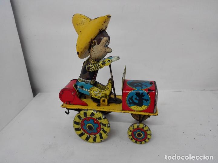 Juguetes antiguos Rico: Rodeo de Rico. Juguete con resorte, de hojalata, años 50/60 - Foto 3 - 135823974