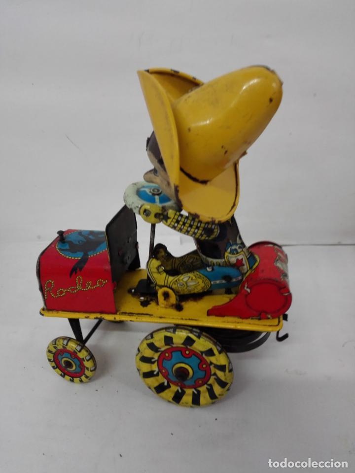 Juguetes antiguos Rico: Rodeo de Rico. Juguete con resorte, de hojalata, años 50/60 - Foto 6 - 135823974