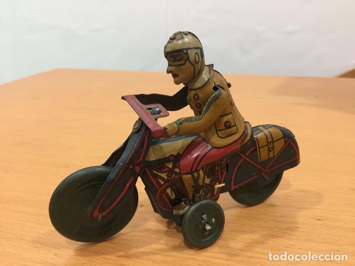 RICO MOTO HOJALATA AÑOS 40 (Juguetes - Marcas Clásicas - Rico)