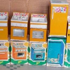 Juguetes antiguos Rico: COCINA COMPLETA MINI DALILA DE RICO CON CAJAS. Lote 142098974