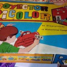 Juguetes antiguos Rico: PROYECTOR RICOLOR 12 HISTORIETAS BRUGUERA -GORDITO RELLENO -DON PIO-CARIOCO-CARPANTA.... Lote 142200862