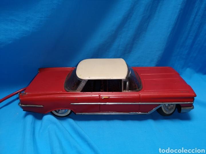 Juguetes antiguos Rico: Precioso coche Oldsmobile de rico cabledirigido. No funciona. Todo metálico. Hojalata. rojo. Años 60 - Foto 4 - 143180788