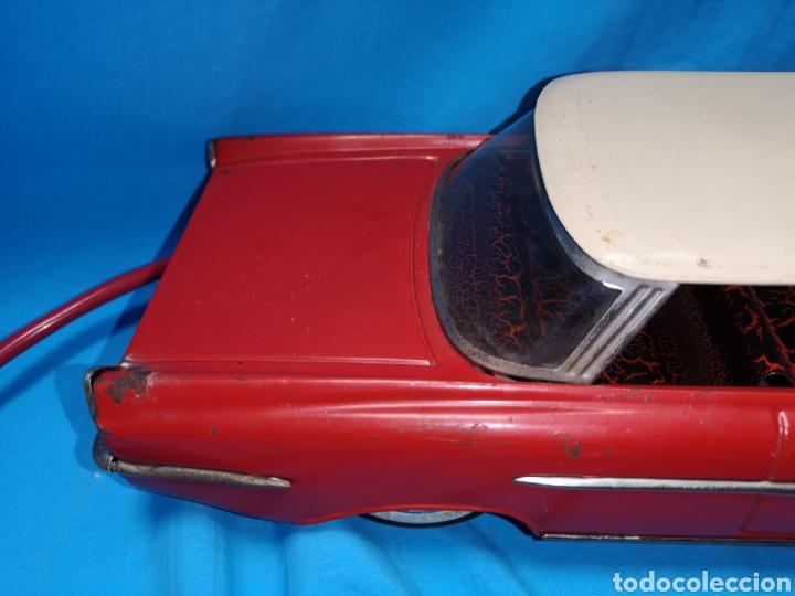 Juguetes antiguos Rico: Precioso coche Oldsmobile de rico cabledirigido. No funciona. Todo metálico. Hojalata. rojo. Años 60 - Foto 5 - 143180788