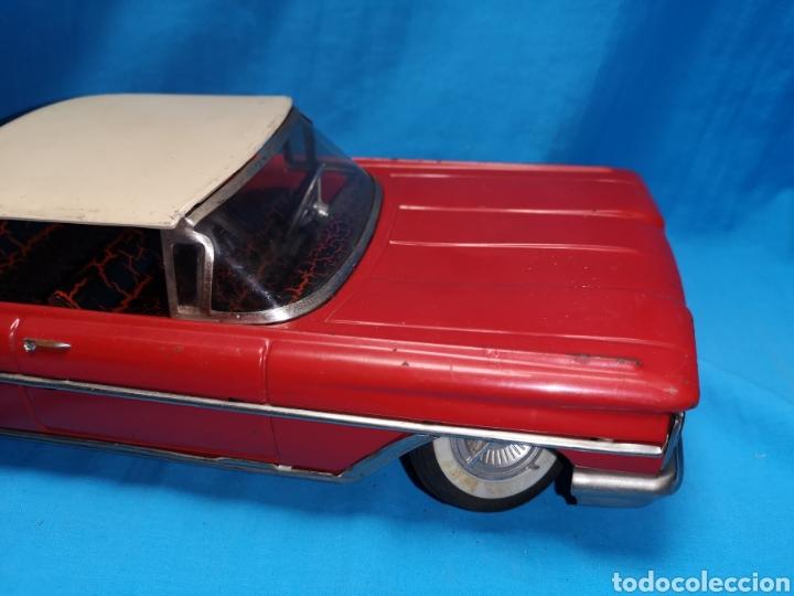 Juguetes antiguos Rico: Precioso coche Oldsmobile de rico cabledirigido. No funciona. Todo metálico. Hojalata. rojo. Años 60 - Foto 6 - 143180788
