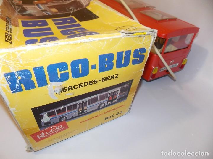 Juguetes antiguos Rico: AUTOBUS BUS RICO RICOBUS COLOR ROJO MERCEDES - Foto 16 - 148469250