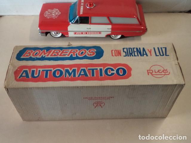 Juguetes antiguos Rico: COCHE JEFE DE BOMBEROS RICO CON SIRENA Y LUZ - EN MUY BUEN ESTADO Y FUNCIONANDO - CON CAJA - Foto 13 - 150797582