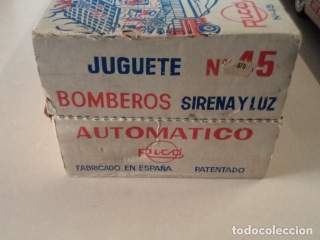 Juguetes antiguos Rico: COCHE JEFE DE BOMBEROS RICO CON SIRENA Y LUZ - EN MUY BUEN ESTADO Y FUNCIONANDO - CON CAJA - Foto 14 - 150797582